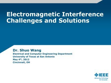 Electromagnetic Interference Challenges and Solutions - IEEE-USA