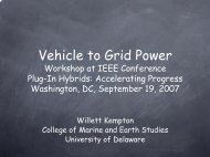 Vehicle to Grid Power Workshop at IEEE Conference ... - IEEE-USA