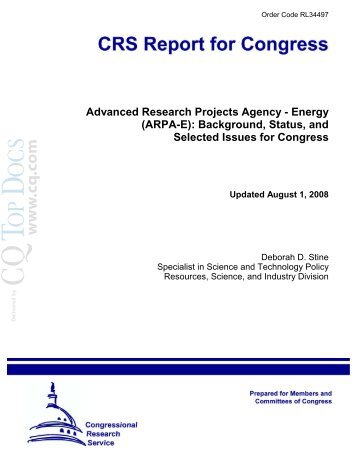 Advanced Research Projects Agency - Energy (ARPA-E ... - IEEE-USA