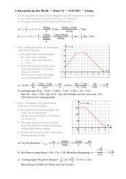 2. Kurzarbeit aus der Physik * Klasse 7a * 15.03.2013 ... - raschweb.de