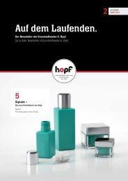 Auf dem Laufenden. - Kunststoffwerke Adolf Hopf GmbH & Co. KG