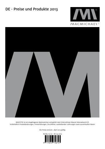 MacMichael Preisliste 2013/14