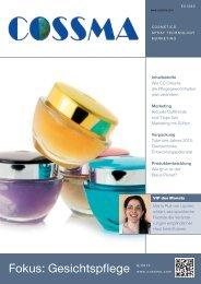 Fokus: Gesichtspflege 9/2013 - COSSMA