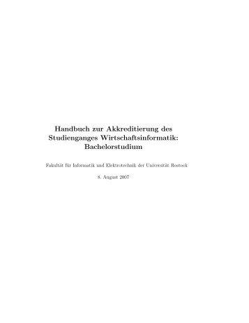 Modulhandbuch - Fakultät für Informatik und Elektrotechnik ...