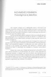 MOVIMENTO FEMINISTA Paradigmas e desafios - Instituto de ...