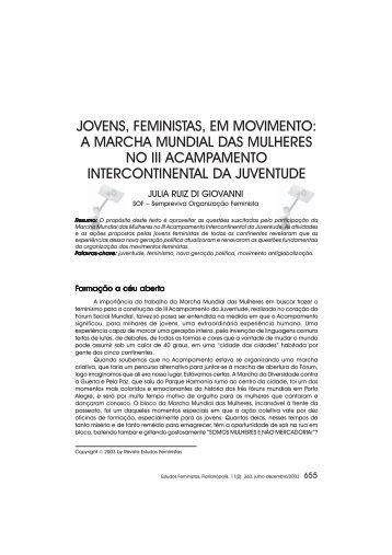 jovens, feministas, em movimento: a marcha mundial das ... - SciELO