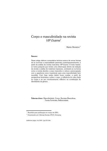 Corpo e masculinidade na revista - ResearchGate