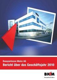 Geschäftsbericht 2010 - Bausparkasse Mainz AG