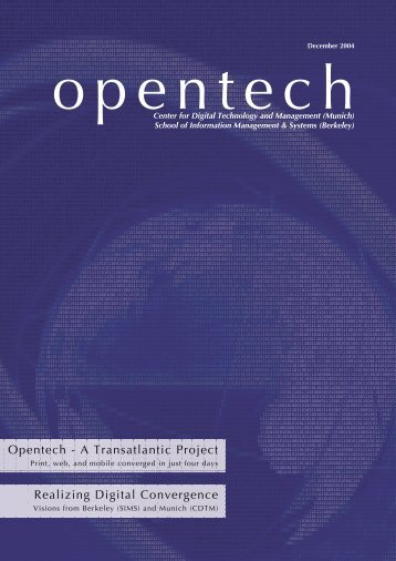 OpenTech - Issue  1, Vers. 2.indd - School of Information