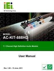 AC-KIT-888HD Audio Module - iEi