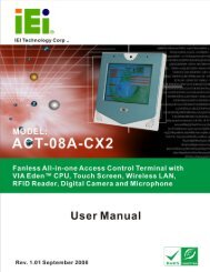 ACT-08A-CX2 All-in-One Access Control Terminal User Manual - iEi