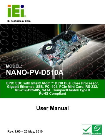 NANO-PV-D510A User Manual - iEi