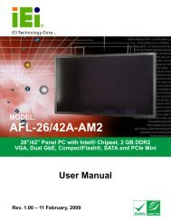 AFL-26/42A-AM2 Panel PC - iEi