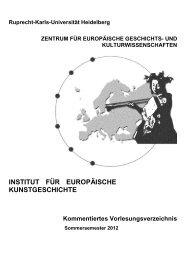 Kommentiertes Vorlesungsverzeichnis SS 2012 - Institut für ...