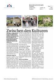 Zwischen den Kulturen, Berner Zeitung, 27. September 2013 - Enit