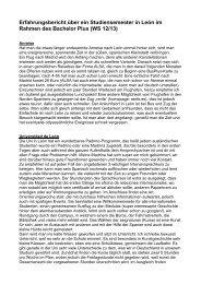 Erfahrungsbericht Studium - Institut für Europäische Kunstgeschichte