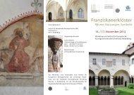Franziskanerklöster - Institut für Europäische Kunstgeschichte