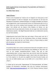 Erfahrungsbericht Praktikum - Institut für Europäische Kunstgeschichte