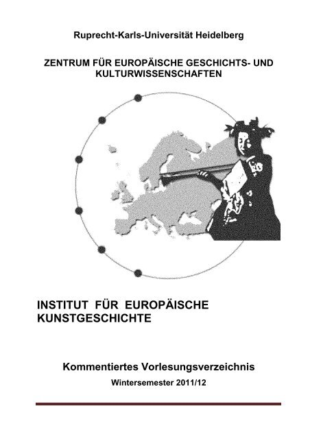 Kommentiertes Vorlesungsverzeichnis WS 2011/12 - Institut für ...
