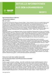 Bergwerkkonzerne steigen ins Düngergeschäft ein - BASF ...