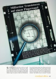 Milliarden Transistoren auf einem Fingernagel - PTB