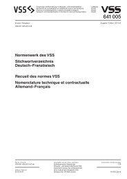 recueil des normes VSS (641005)