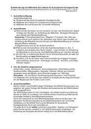 Entleihordnung der Bibliothek des Instituts für Europäische ...