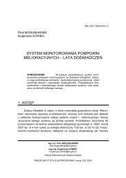 system monitorowania pompowni melioracyjnych - Instytut ...