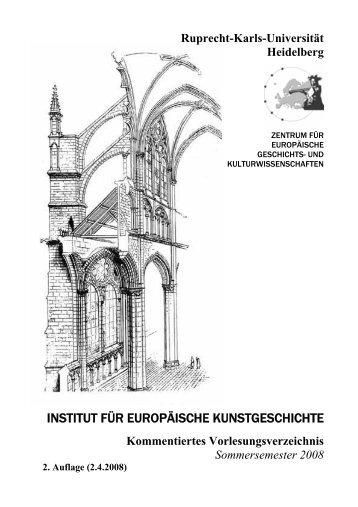Kommentiertes Vorlesungsverzeichnis SS 2008 - Institut für ...