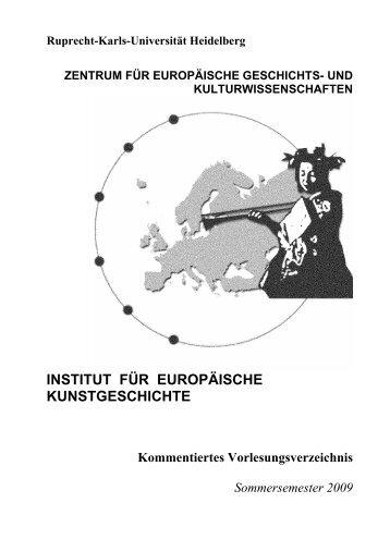 Kommentiertes Vorlesungsverzeichnis SS 2009 - Institut für ...