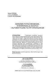 barwniki fotochromowe, interferencja światła i automatyczne filtry ...