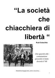 Uno sguardo alla contestazione giovanile in Italia durante il '68