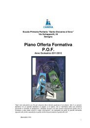 Piano Offerta Formativa P.O.F. - Istituto Europeo Marcello Candia