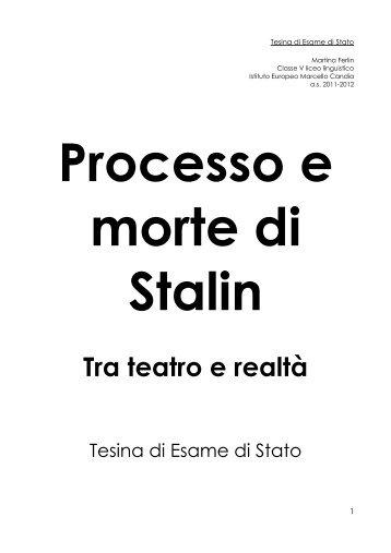 Tra teatro e realtà - Istituto Europeo Marcello Candia