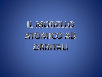 Il modello atomico ad orbitali