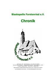 Blaskapelle Forstenried eV Chronik