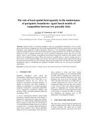 The role of local spatial heterogeneity in the maintenance of ...