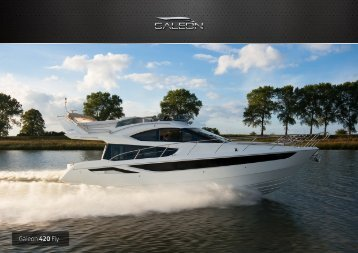 Page 1 Page 2 Galeon 420 Fly debuted in 2011 offering one of the ...
