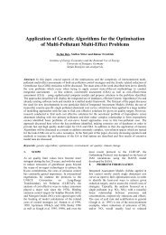Application of Genetic Algorithms for the Optimisation of Multi ...