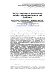 Markov-based approaches to support policies makers in ...