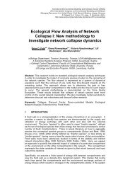 Ecological Flow Analysis of Network Collapse I - International ...