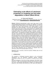 Estimating scale effects of catchment properties on modeling soil ...