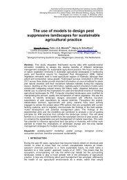 The use of models to design pest suppressive landscapes for ...