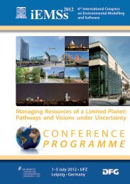 Mon • July 2 - International Environmental Modelling and Software ...