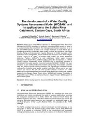 The development of a Water Quality Systems Assessment Model