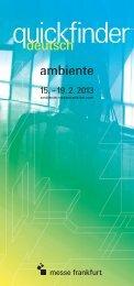 quickfinder - Messe Frankfurt