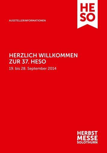 HerzlicH Willkommen zur 37. HeSo