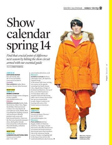 Show Calendar 2014 - Drapers