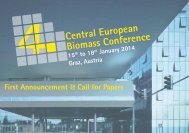 Central European Biomass Conference - Advantage Austria