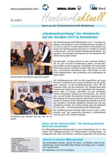 """Nord """"Nachwuchswerbung"""" des Handwerks auf der Nordjob 2013 in ..."""